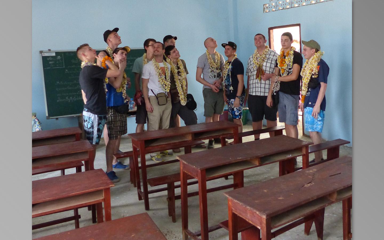 Visite de l'école : le chantier sera à terminer en cinq jours