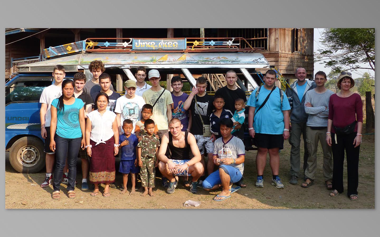 Avec les membres de l'association Champalao