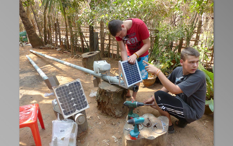 Préparation de l'éclairage photovoltaïque